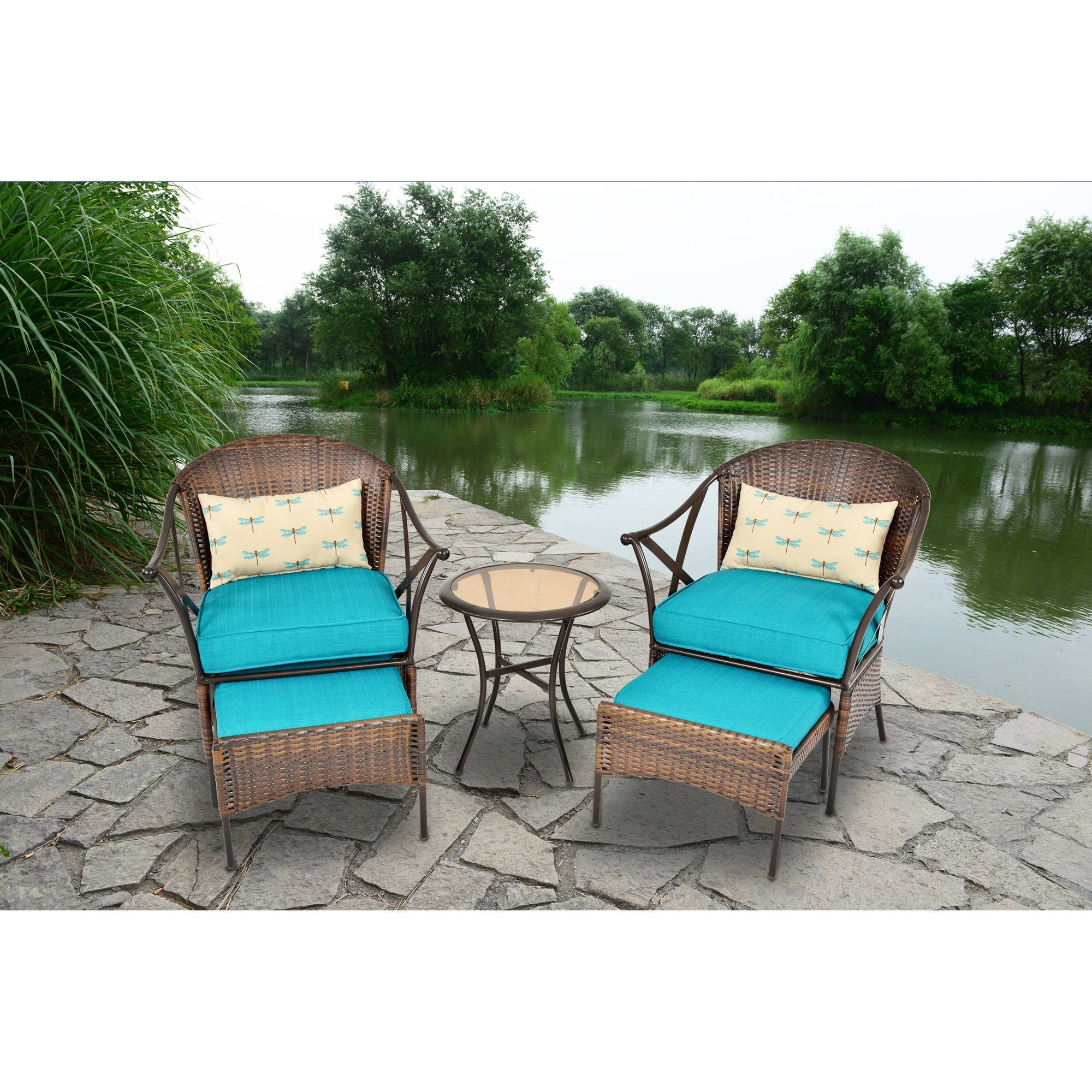 Deal!!! 3 Ps Outdoor Rattan Patio Furniture Set Backyard Garden In Trendy Patio Conversation Sets At Walmart (View 15 of 20)