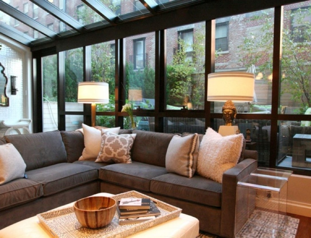 Decorative Big Sectional Sofa And Modern Table Lamps With Glass Pertaining To Popular Big Living Room Table Lamps (View 9 of 20)