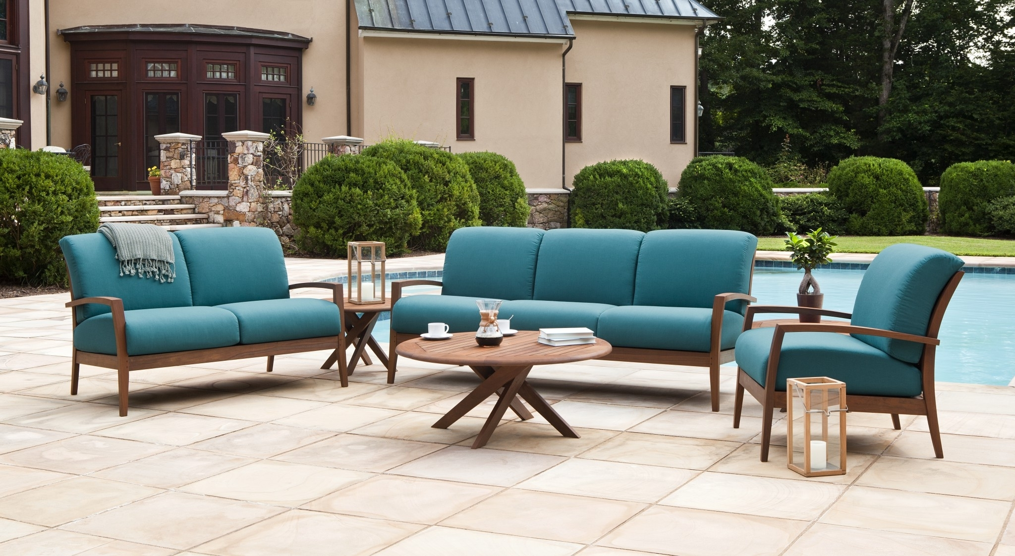 Deep Seating Patio Conversation Sets Throughout Popular Outdoor : Deep Seated Sectional 4 Piece Patio Set Patio Conversation (View 10 of 20)