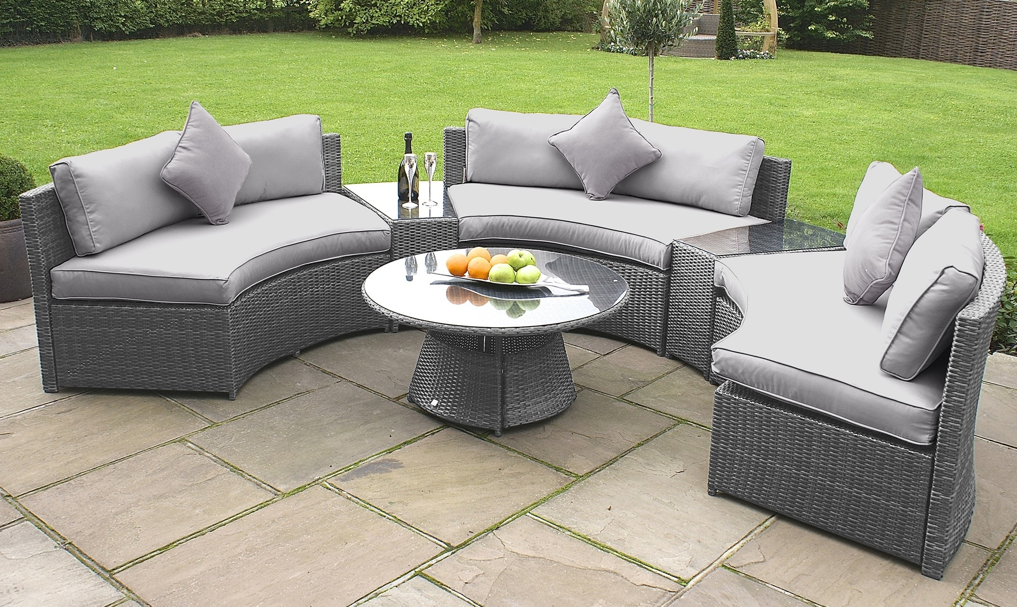 Enormous Gray Wicker Outdoor Furniture Attractive Grey Patio Fresh Pertaining To Recent Grey Patio Conversation Sets (View 4 of 20)