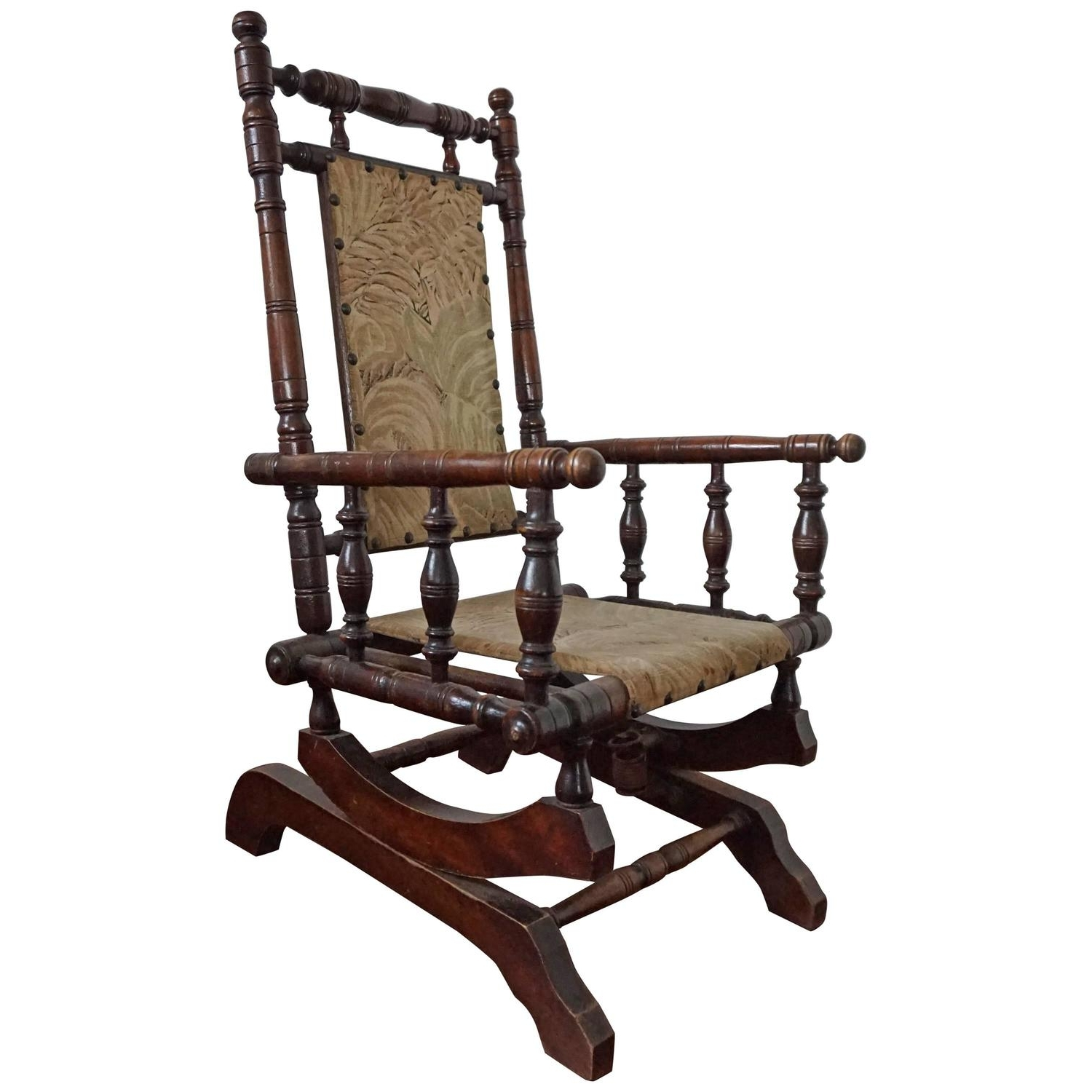 Famous Antique Rocking Chairs Intended For Rare Antique Rocking Chair For Children American Rocker For Child Or (View 10 of 20)