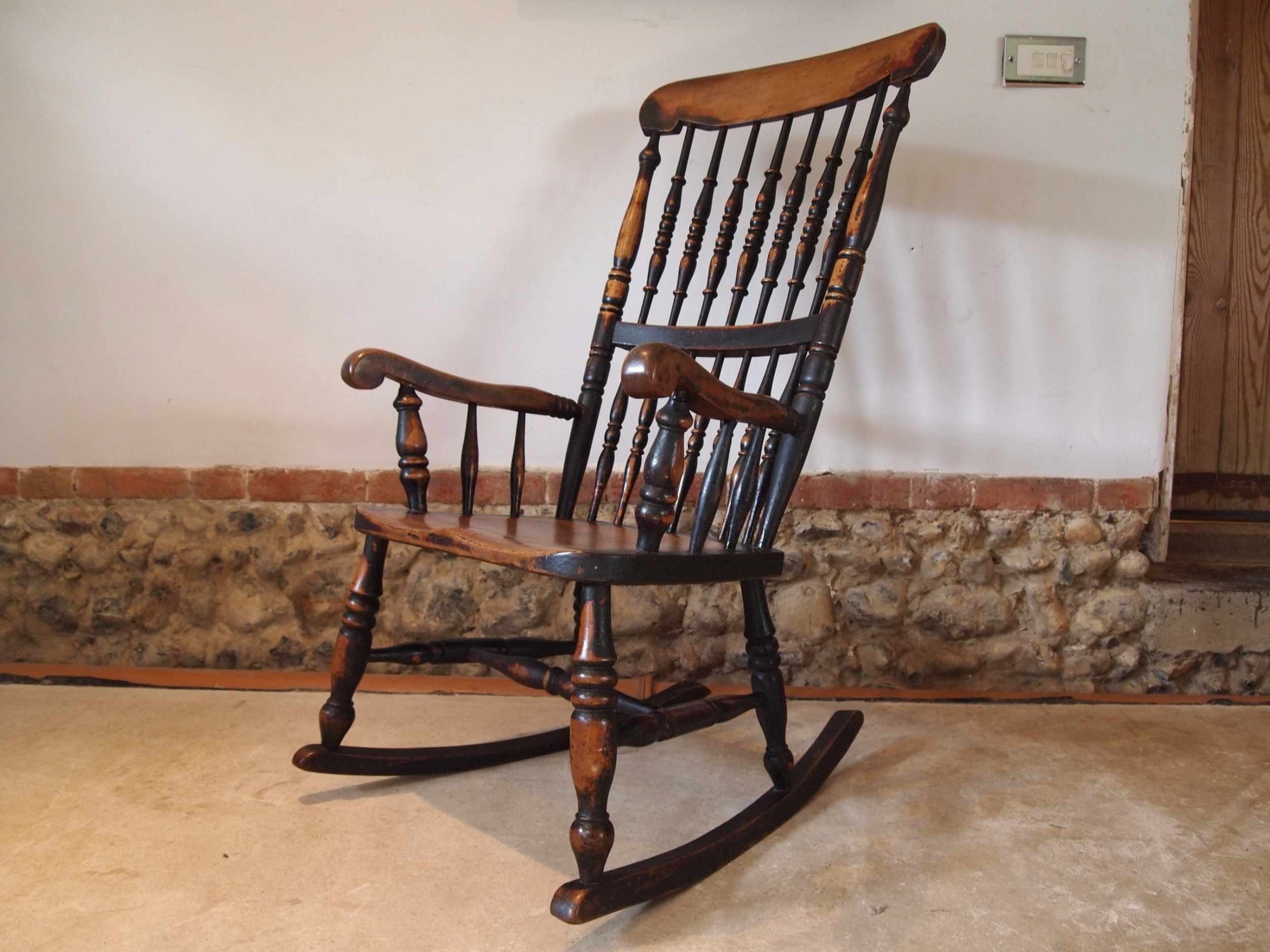 Famous Chair Rocking Chair Victorian Windsor John Shadford Caistor Rocker Within Victorian Rocking Chairs (View 4 of 20)
