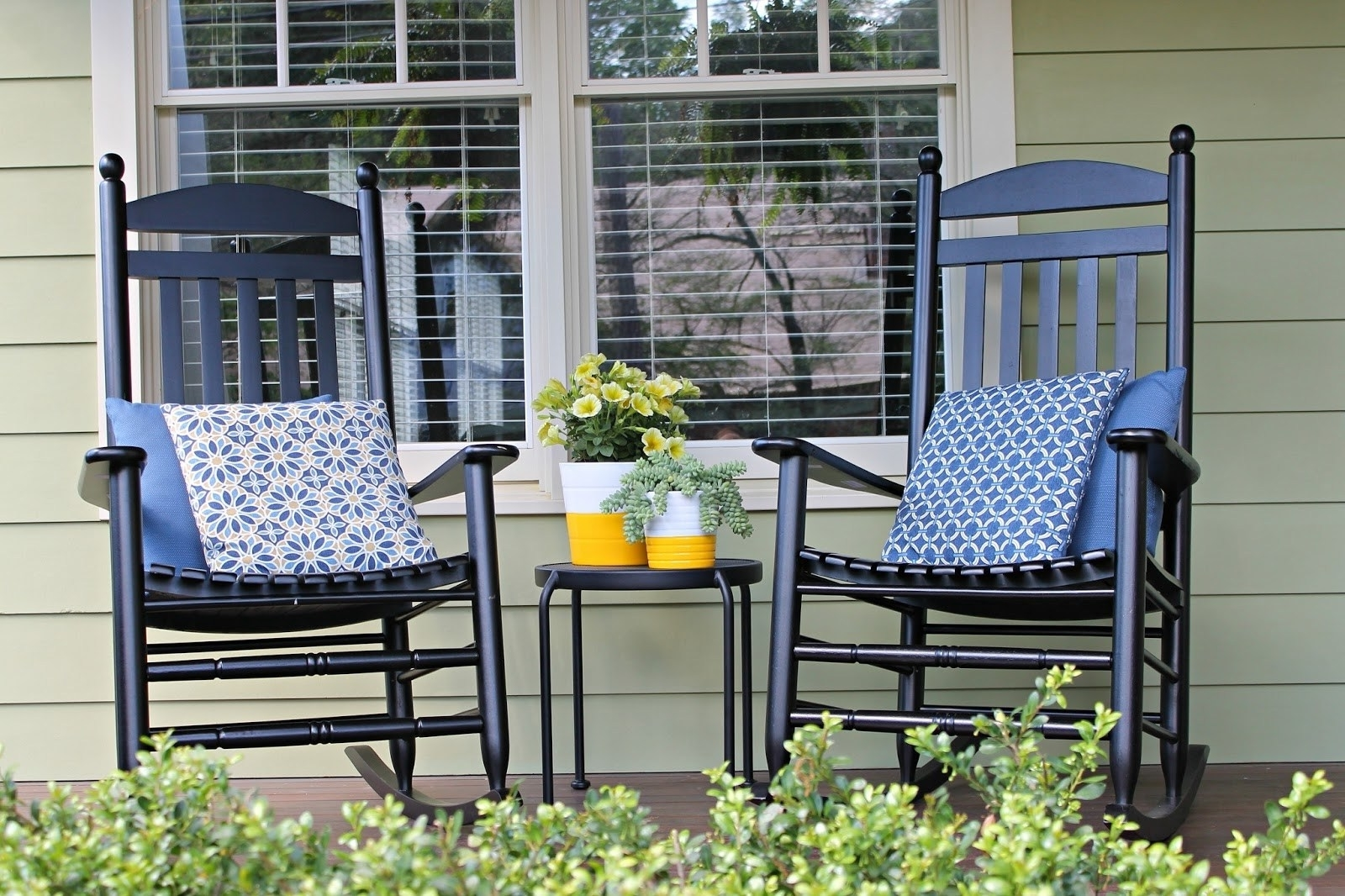 Famous First Image Wicker Black Rocking Chairs Bed Shower Weave Black Inside Inexpensive Patio Rocking Chairs (View 4 of 20)