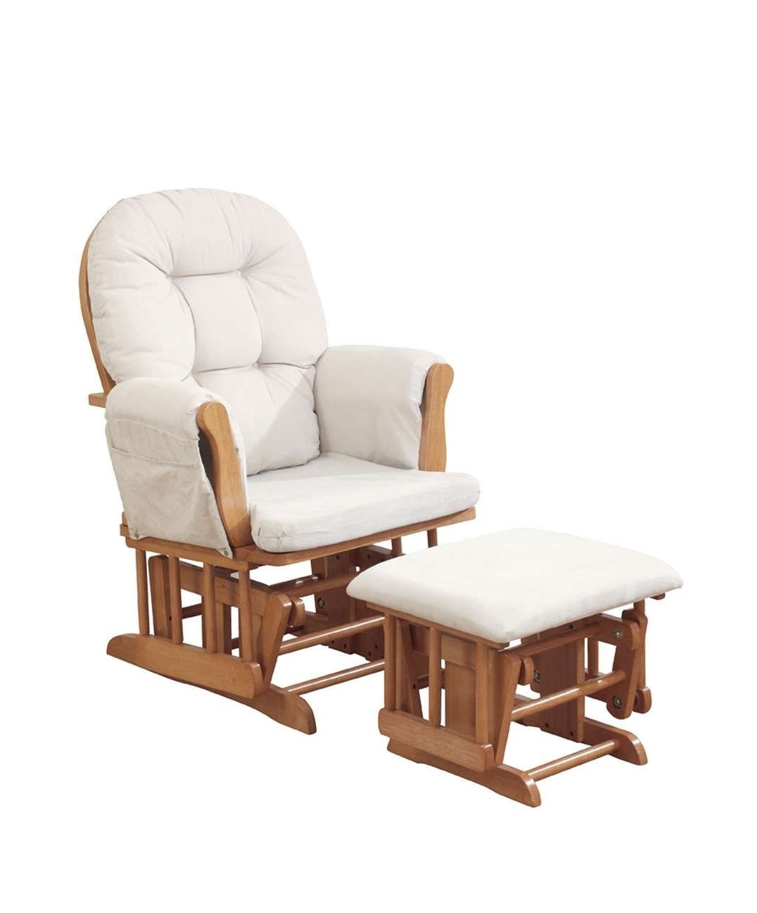 Famous Kub – Haywood Glider And Footstool – Natural – Nursing Chairs Inside Rocking Chairs For Nursing (View 5 of 20)