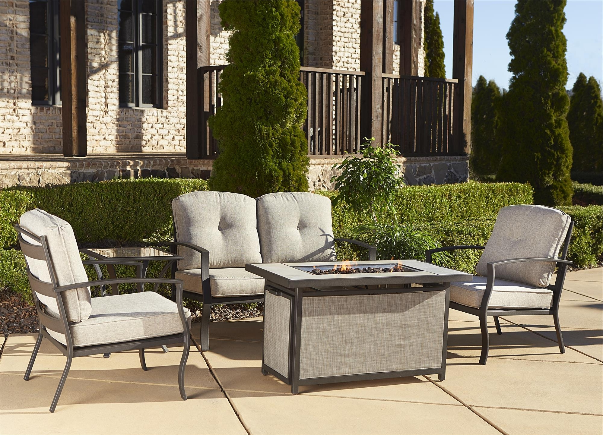 Famous Lazy Boy Patio Conversation Sets With Brick Fence Of The Wall Combined With Black Lazy Boy Wicker (View 3 of 20)
