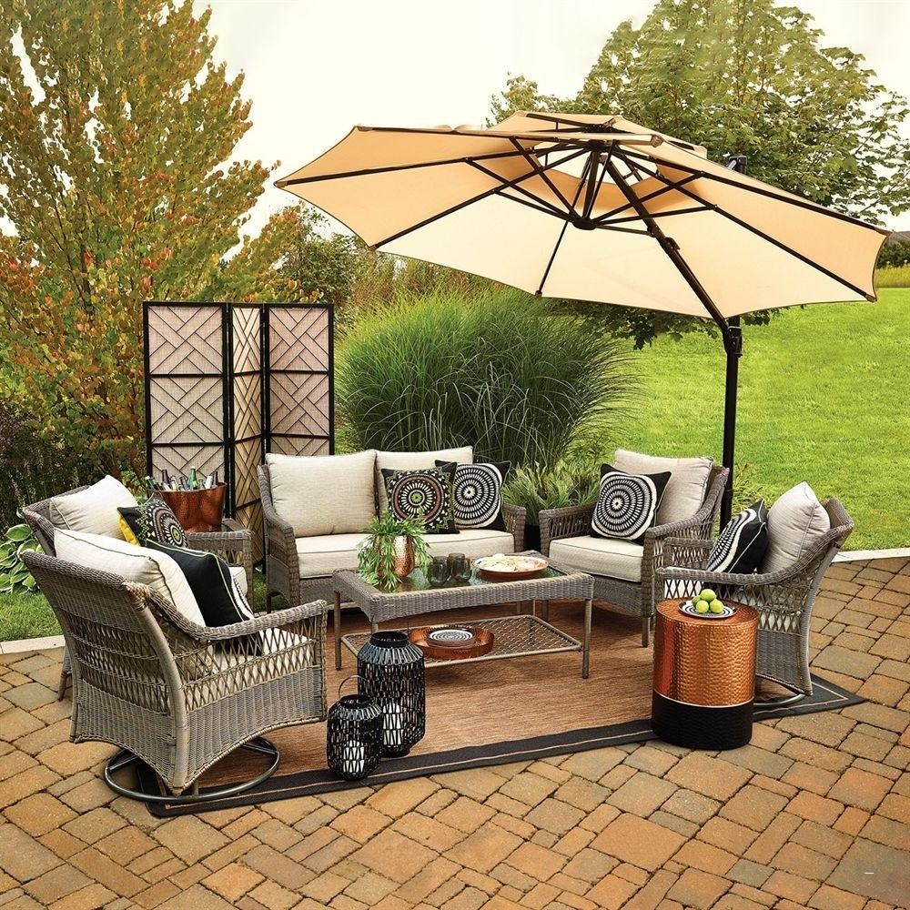 Famous Lowes Outdoor Furniture Luxury Shop Allen Roth Claremont 7 Piece In Lowes Patio Furniture Conversation Sets (View 19 of 20)