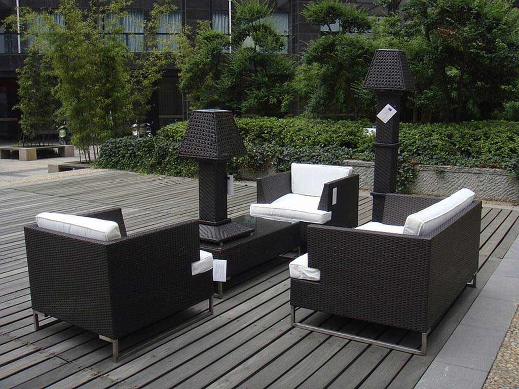 Famous Modern Patio Conversation Sets Pertaining To Modern Outdoor Balcony Furniture (View 3 of 20)