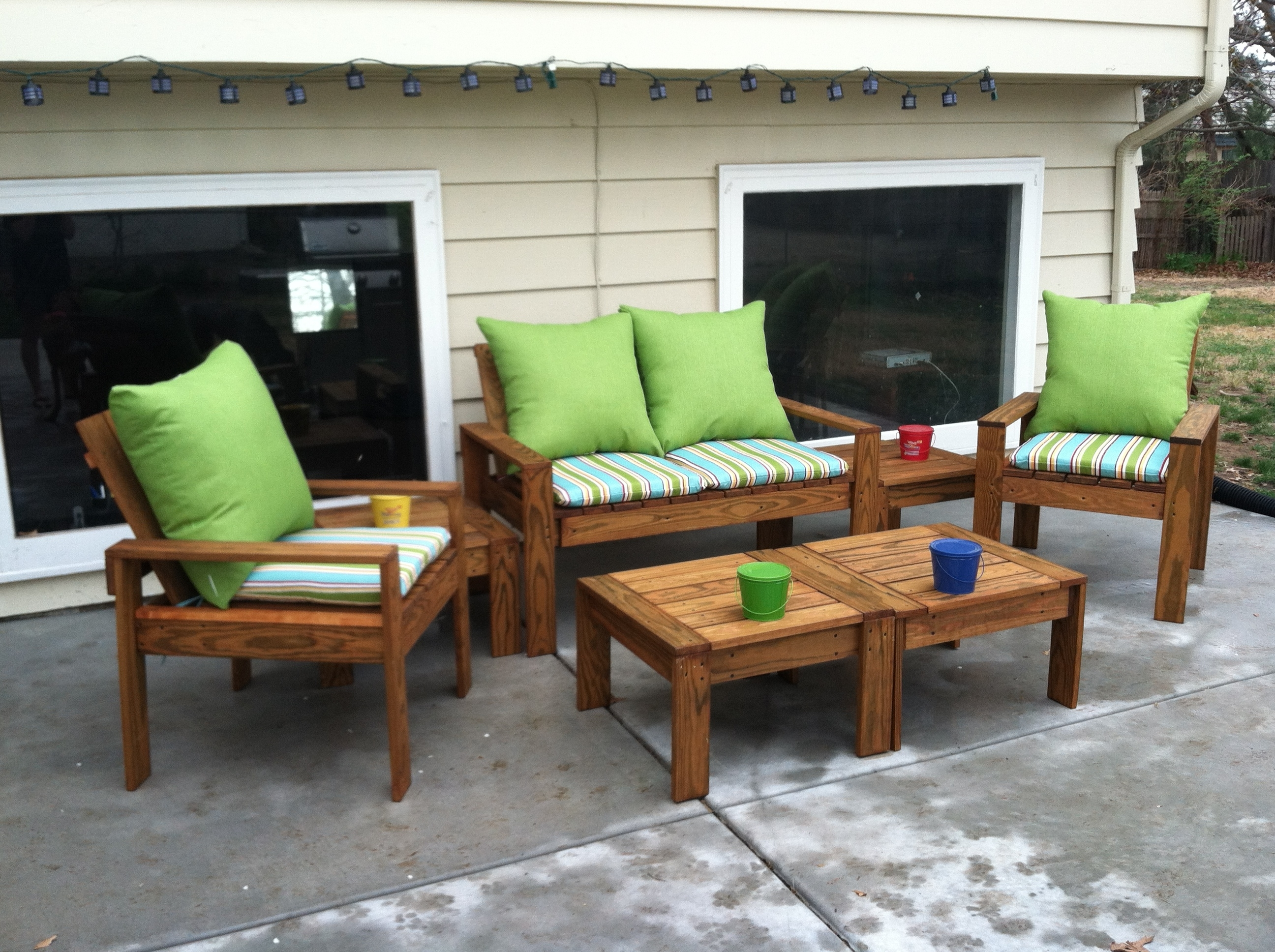 Famous Patio Conversation Sets With Regard To Ana White (View 6 of 20)