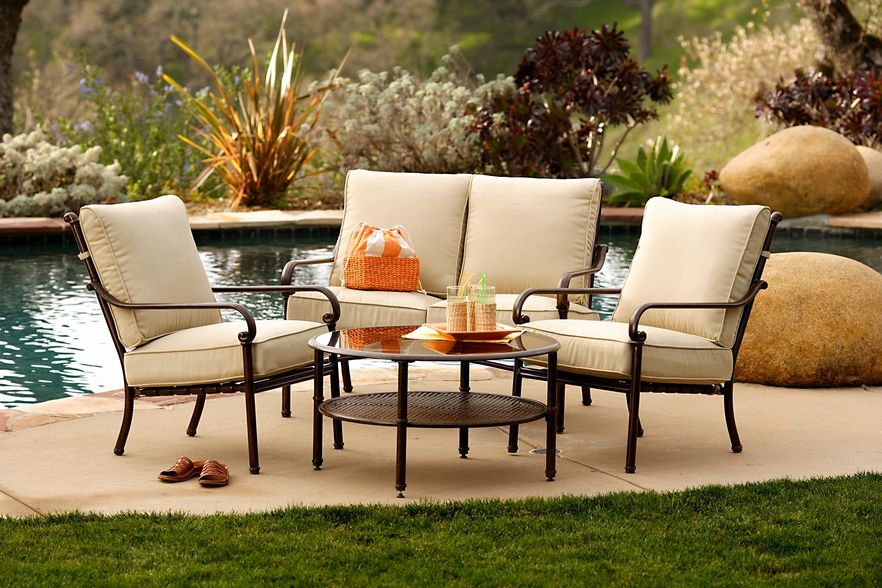 Famous Patio Cool Conversation Sets Patio Furniture Clearance Theydesign Throughout Inexpensive Patio Conversation Sets (View 8 of 20)