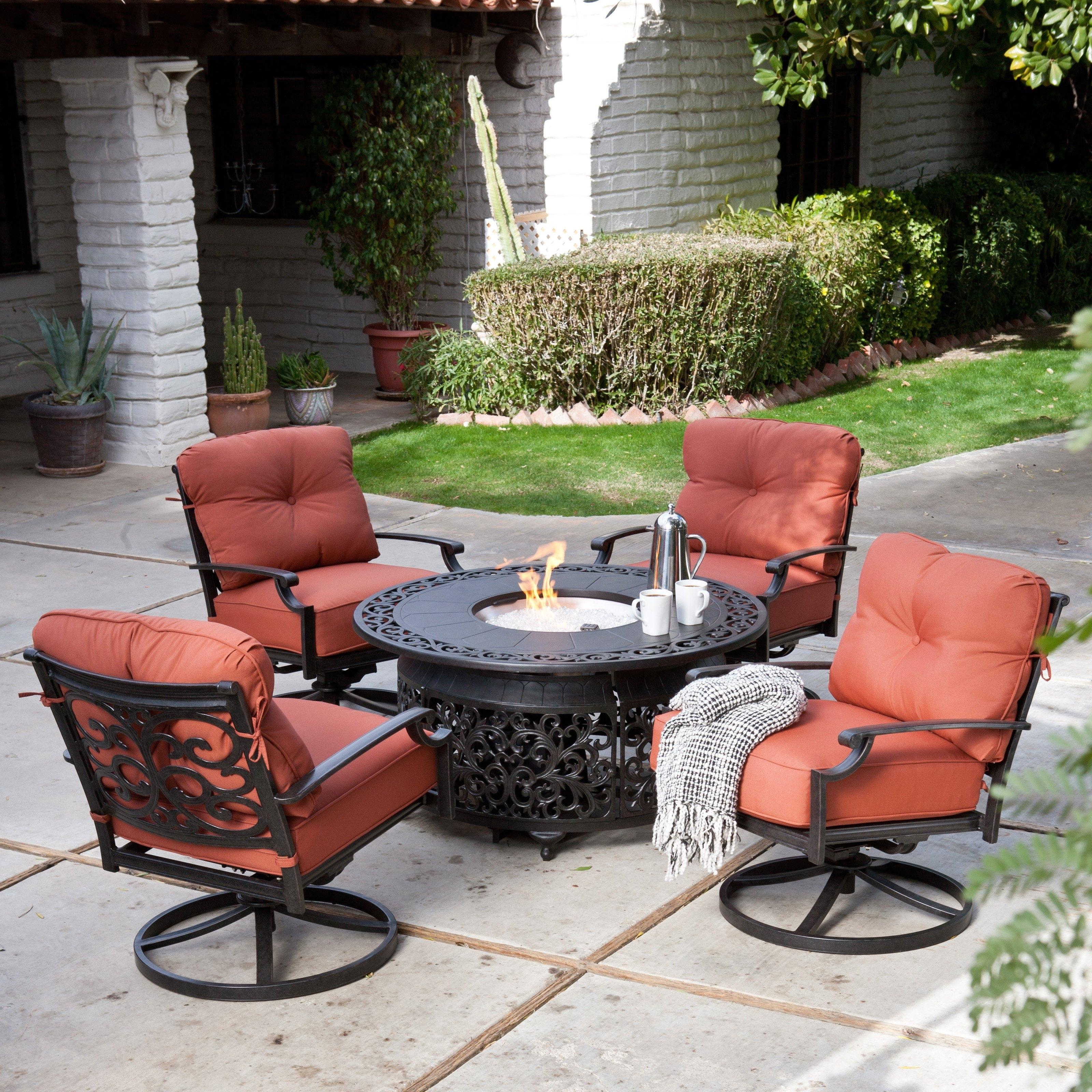 Famous Patio Furniture Conversation Sets With Fire Pit Regarding Best Of Fire Pit Conversation Sets Belham Living San Miguel Cast (View 7 of 20)
