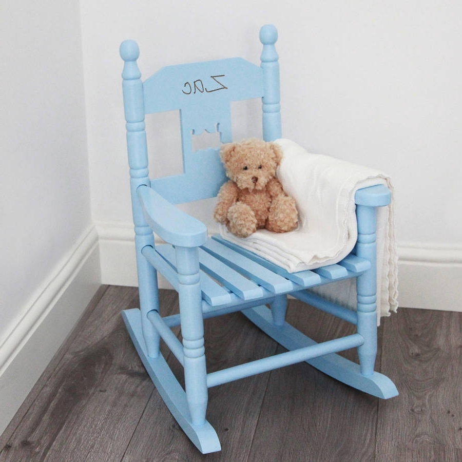Famous Personalised Child's Rocking Chairmy 1St Years Throughout Rocking Chairs For Babies (View 8 of 20)