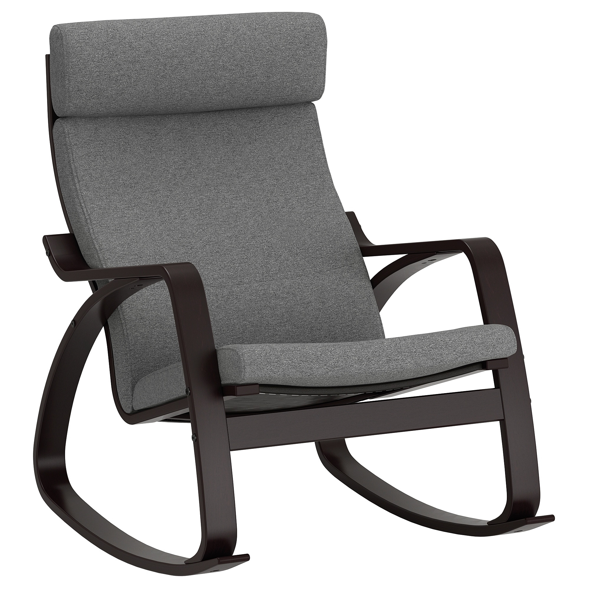 Famous Poäng Rocking Chair Black Brown/lysed Grey – Ikea For Ikea Rocking Chairs (View 4 of 20)