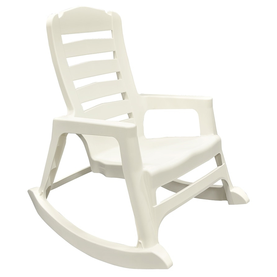 Famous Rocking Chair Lowes Simple White Painted Models Adams Mfg Corp Resin Regarding Stackable Patio Rocking Chairs (View 8 of 20)