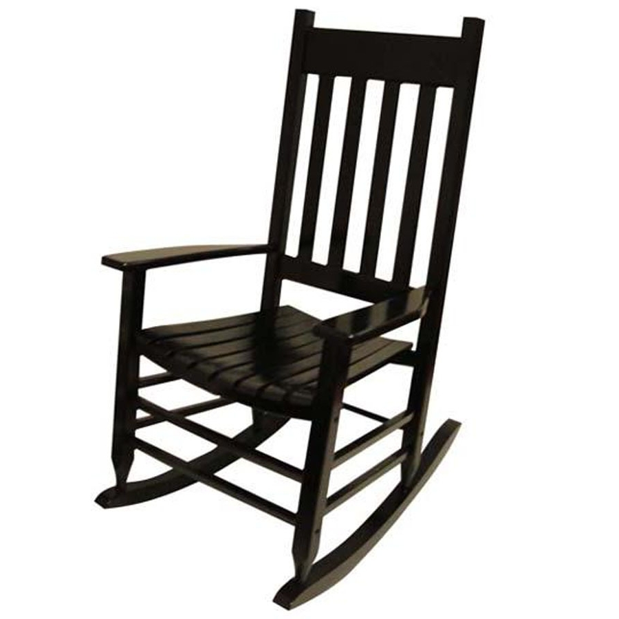 Famous Rocking Chairs At Lowes For Rocking Chair Design Lowes Rocking Chair Black Painted Black And (View 6 of 20)