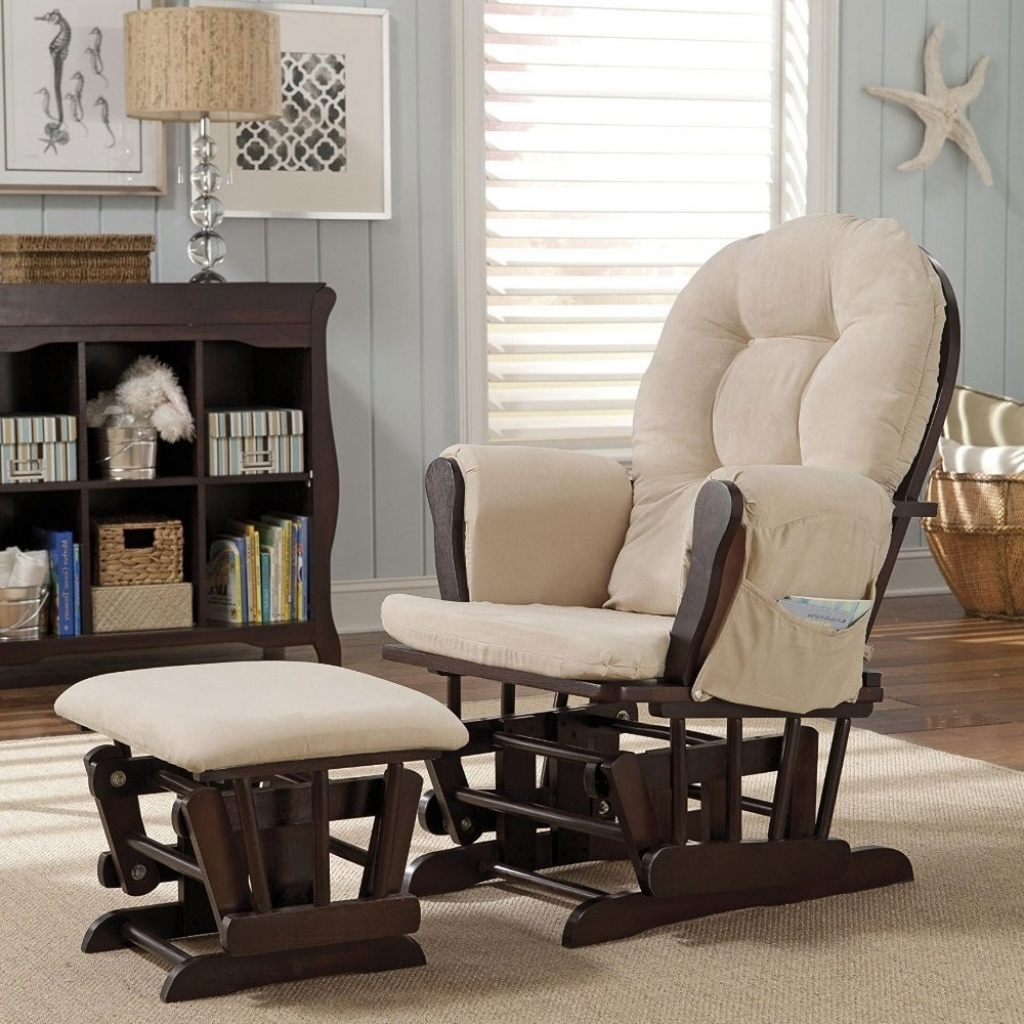 Famous Rocking Chairs For Nursery With Rocking Chair With Ottoman Nursery Bed And Shower Nice Ba Throughout (View 10 of 20)