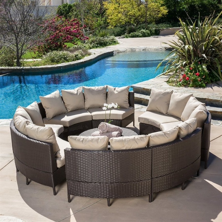 Famous Shop Best Selling Home Decor Newton 10 Piece Wicker Frame Patio Regarding Patio Sectional Conversation Sets (View 8 of 20)