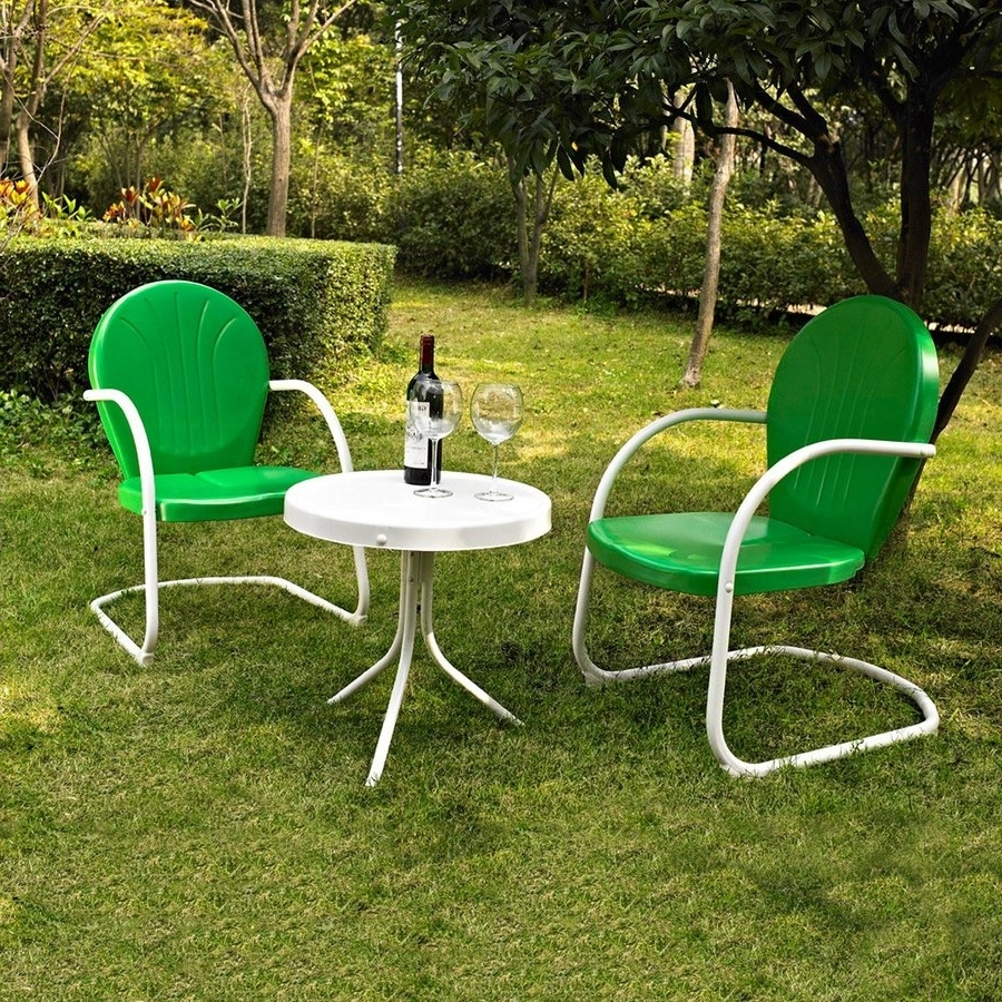 Famous Shop Crosley Furniture Griffith 3 Piece Steel Frame Patio For Patio Conversation Sets Without Cushions (View 3 of 20)