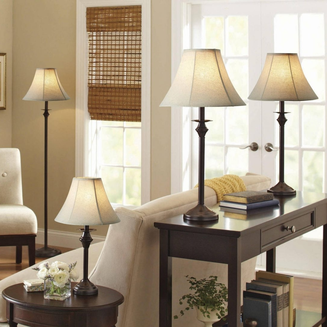 Famous Surprising Livingroom Table Lamps Within Better Homes And Gardens 4 Within Living Room Table Lamps Sets (View 12 of 20)
