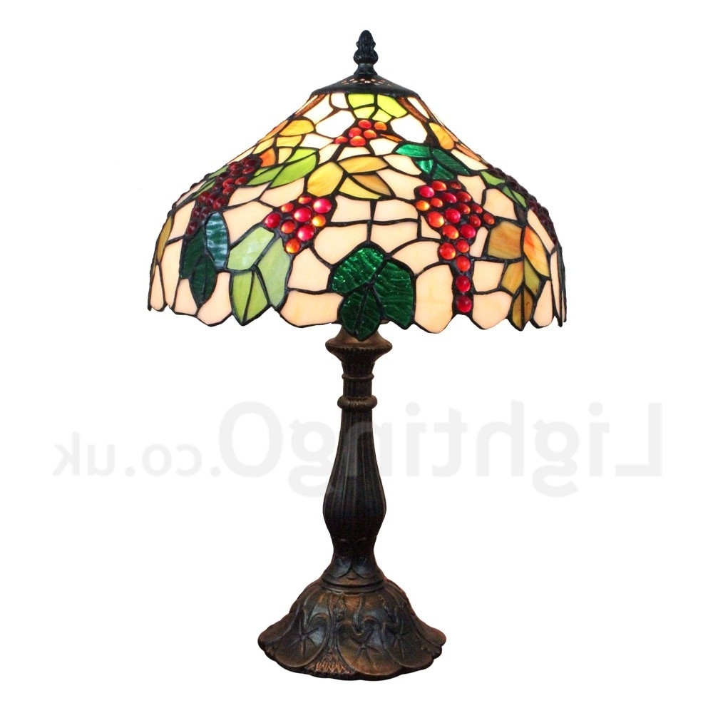 Famous Table Lamps For Living Room Uk Within Diameter 30Cm (12 Inch) Handmade Rustic Retro Tiffany Table Lamp (View 7 of 20)
