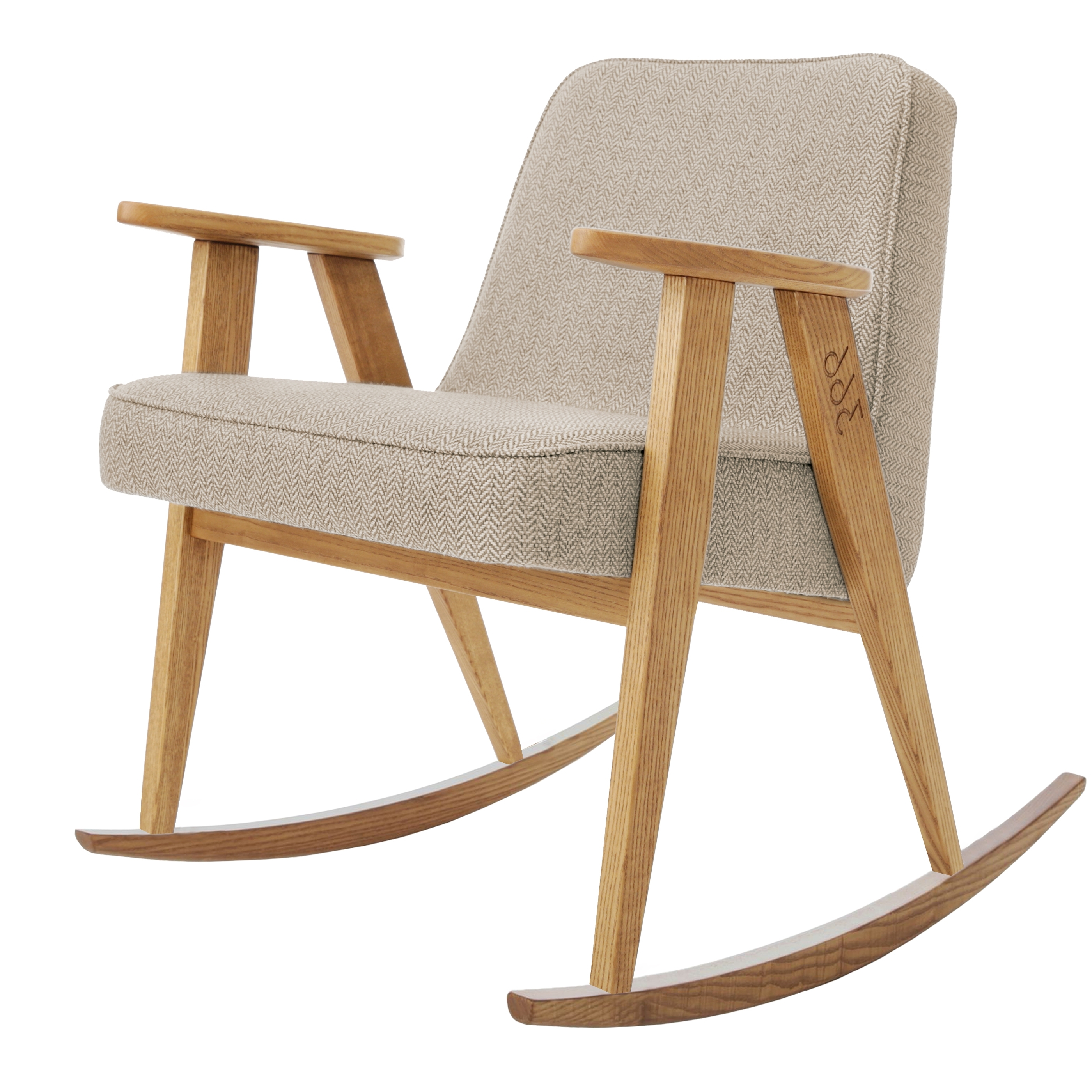 Fashionable 366 Rocking Chair Tweed – No Wódka Online Shop With Rocking Chairs With Footrest (View 17 of 20)
