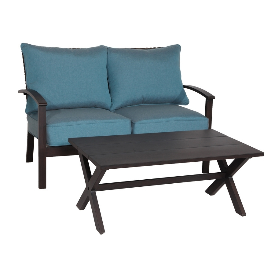 Fashionable Blue Patio Conversation Sets Inside Shop Patio Furniture Sets At Lowes (View 16 of 20)