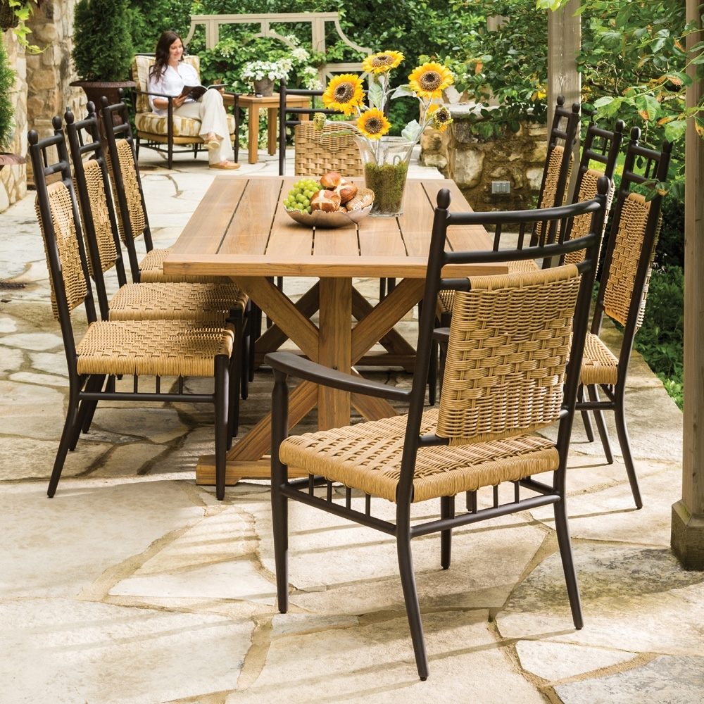 Fashionable Decorate A Patio Dining Sets Style — Inkandcoda Home Blog Regarding Patio Conversation Sets With Dining Table (View 9 of 20)