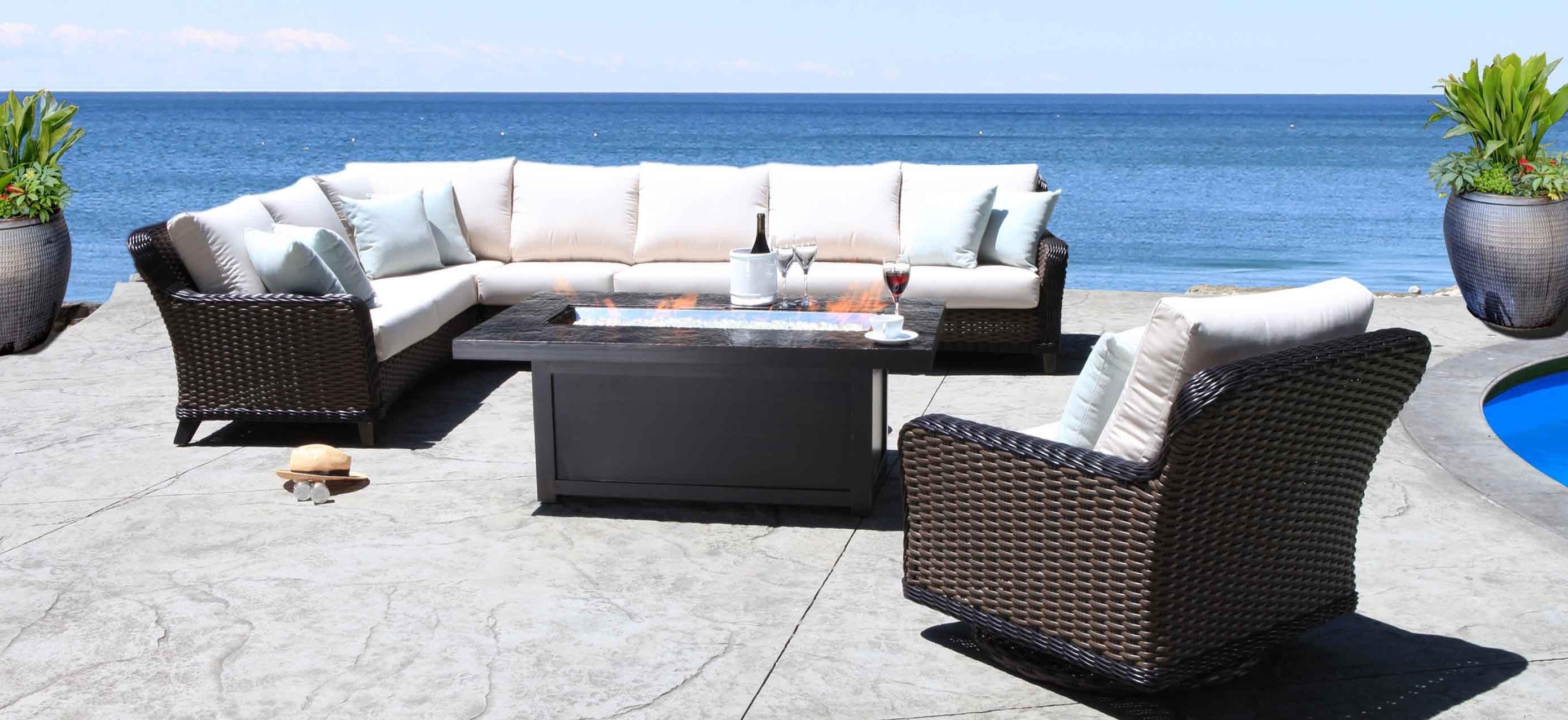 "Fashionable Edmonton Patio Conversation Sets Within Cabana Coast ""elora"" – The Pool & Spa Warehouse (View 7 of 20)"