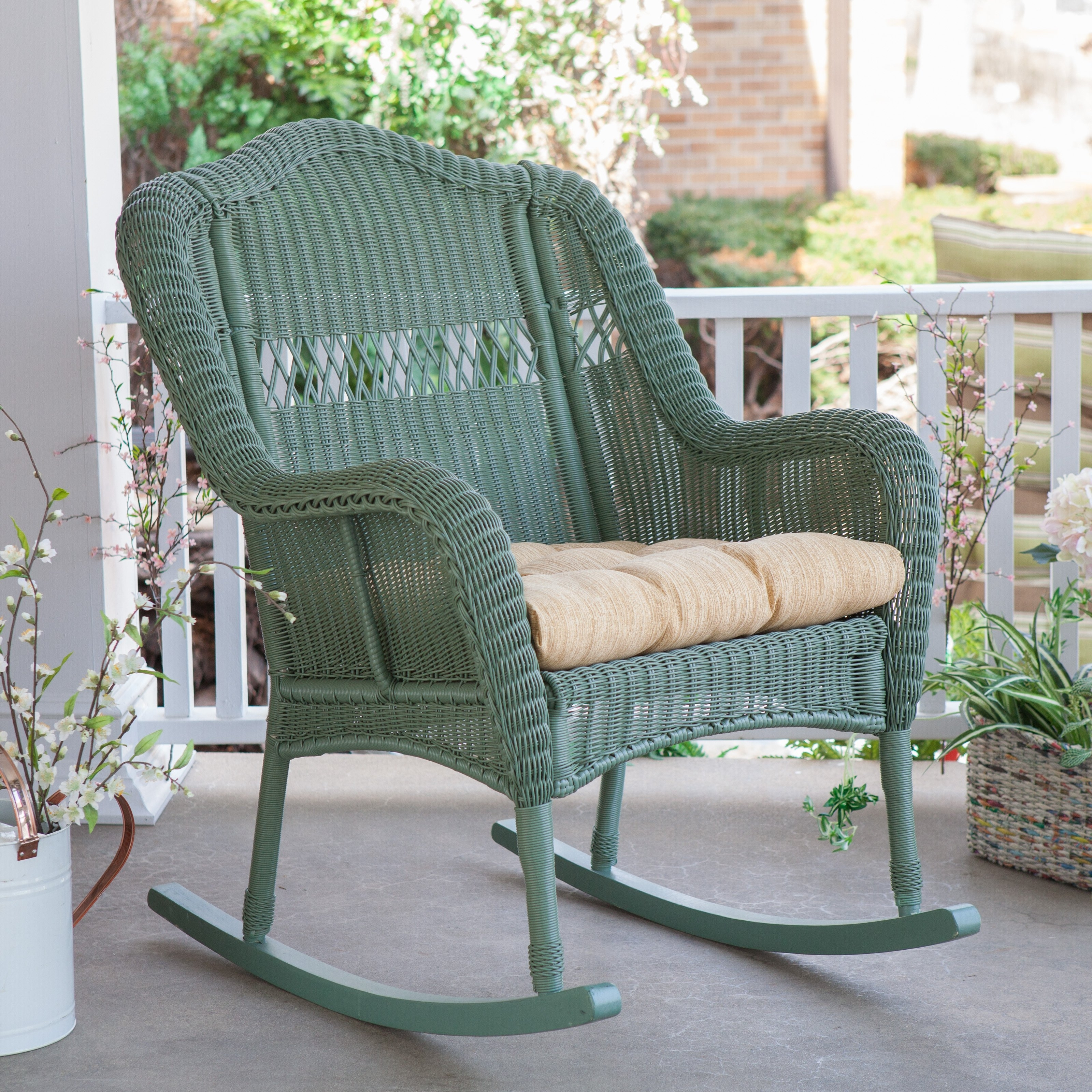 Fashionable Elegant Wicker Rocking Chair Outdoor Wicker Rocking Chair Wicker In Wicker Rocking Chair With Magazine Holder (View 7 of 20)