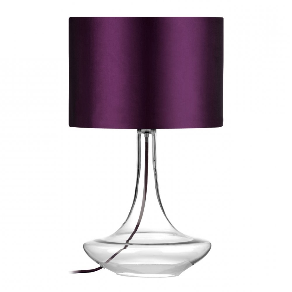 Fashionable Lamp : Table Lamps Purple Living Room Cordless Glass Vintage Lamp Pertaining To Purple Living Room Table Lamps (View 4 of 20)