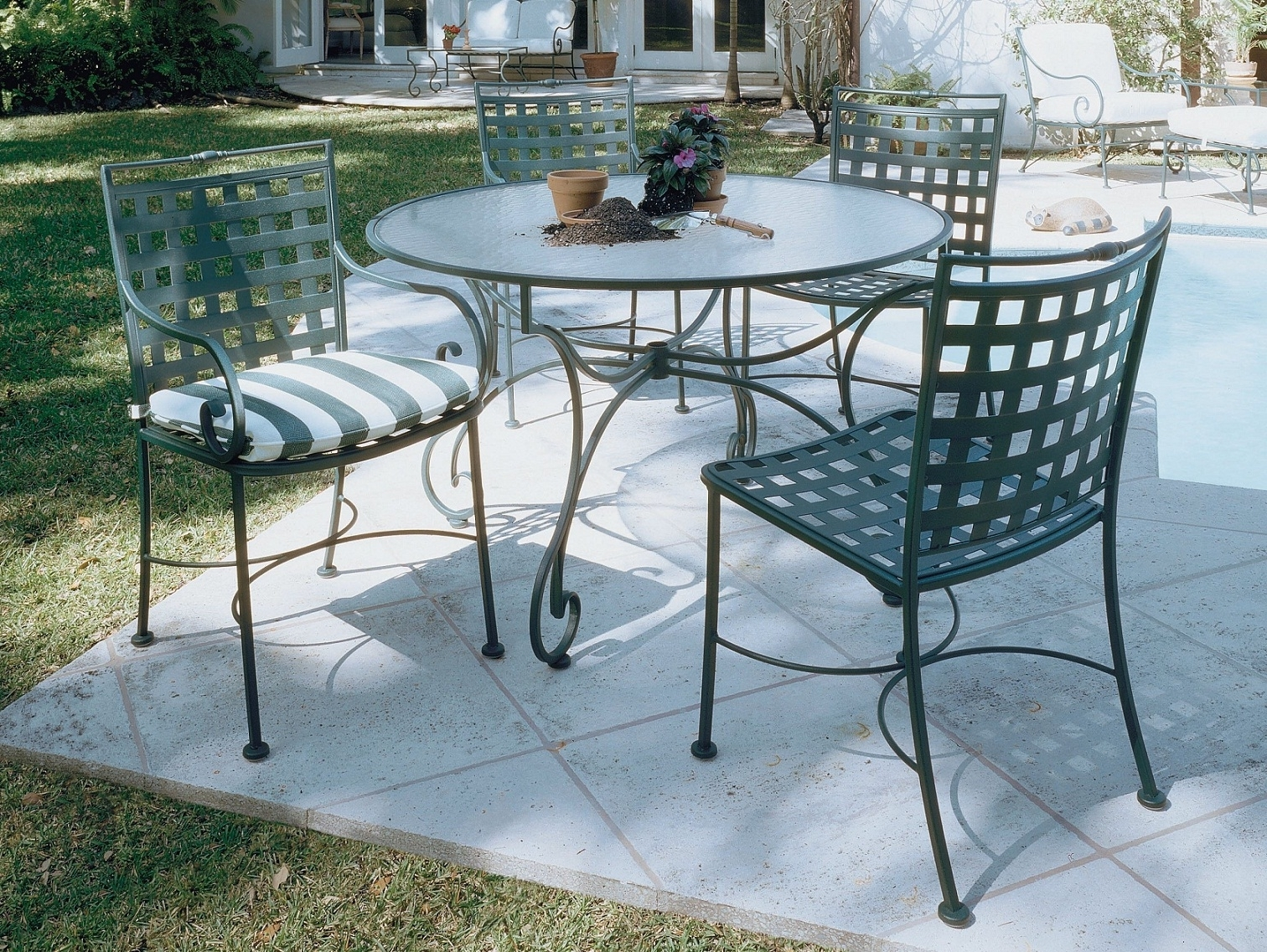 Fashionable Lovely Wrought Iron Patio Tables Outdoor Wrought Iron Patio For Wrought Iron Patio Conversation Sets (View 2 of 20)