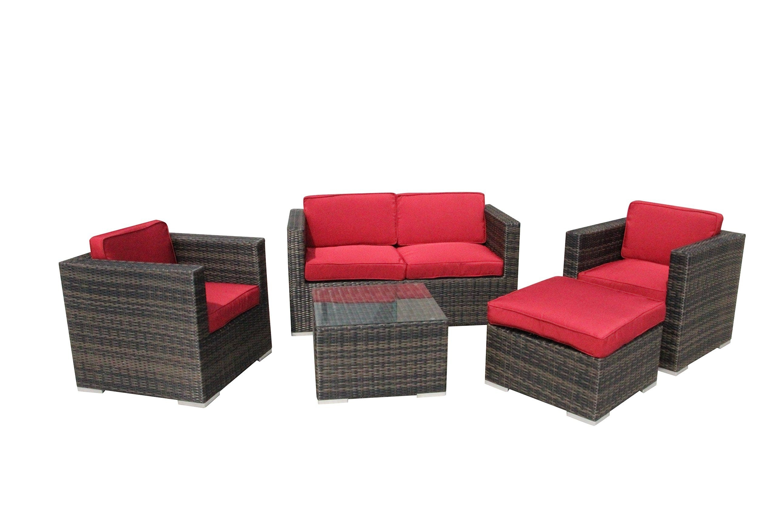 Fashionable Nfm Patio Conversation Sets Within 5 Piece Conversation Set Patio Sofa Set Red — Read More At The (View 13 of 20)