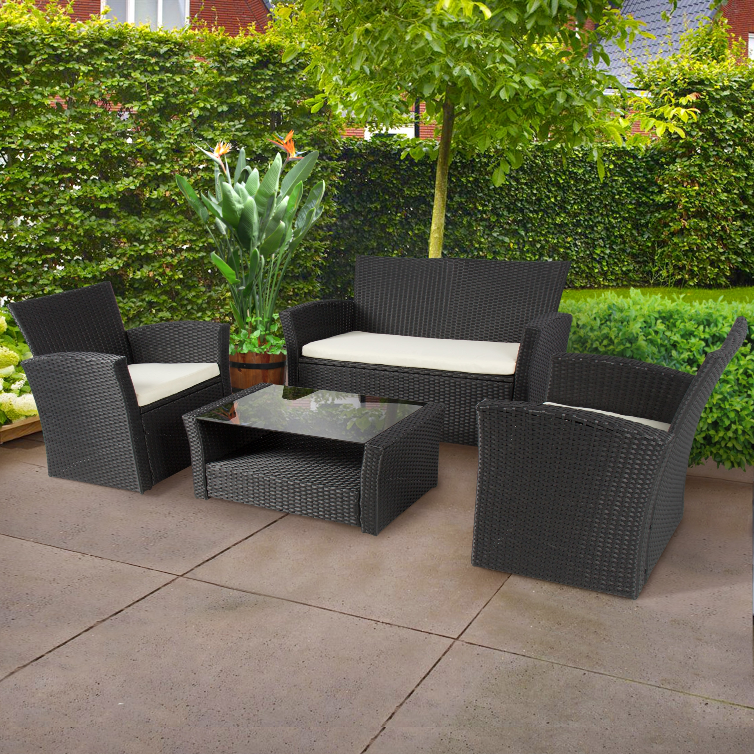 Fashionable Patio : Resin Picnic Table Small Patio With Umbrella Hole Furniture Intended For Black Patio Conversation Sets (View 8 of 20)