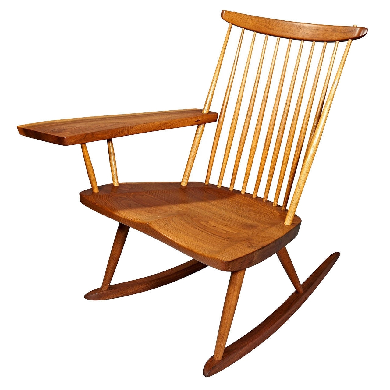 Fashionable Rocking Chair With Free Edge Armgeorge Nakashima For Sale At 1Stdibs With Zen Rocking Chairs (View 4 of 20)