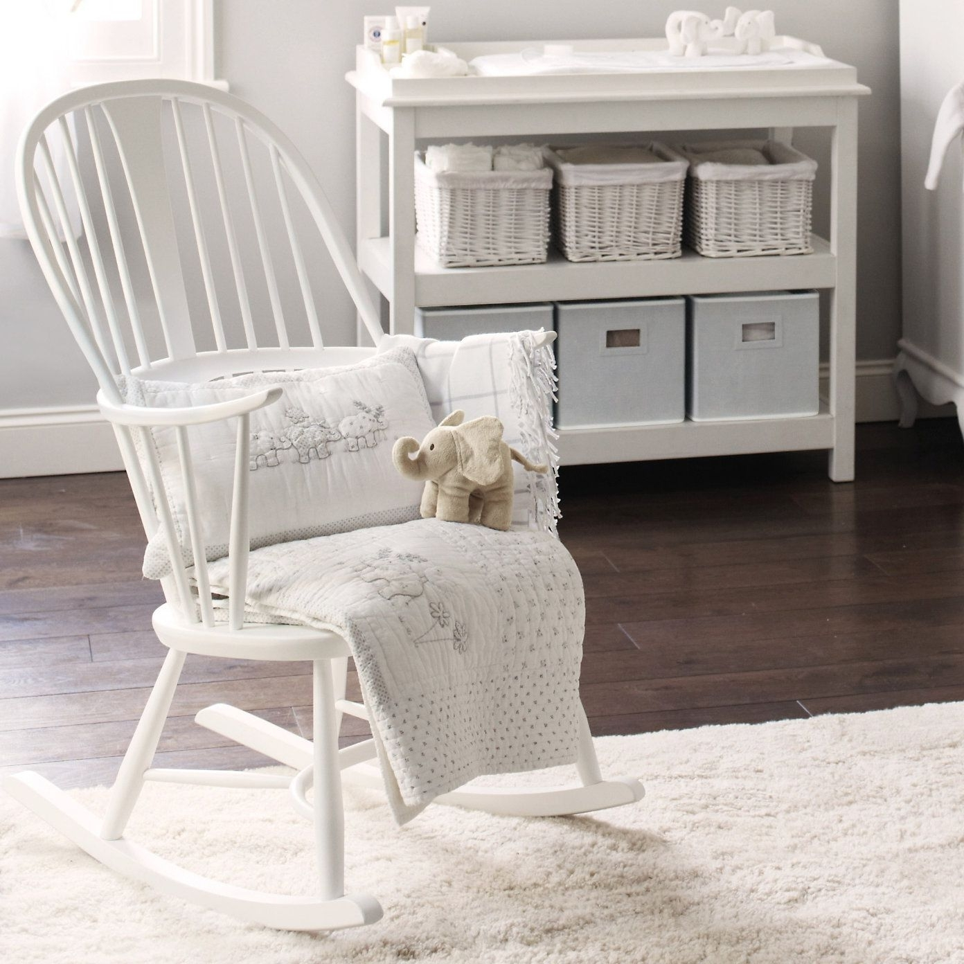 Fashionable Rocking Chairs For Baby Room For Buy Lookbooks > Home > Ercol Rocking Chair – White From The White (View 13 of 20)