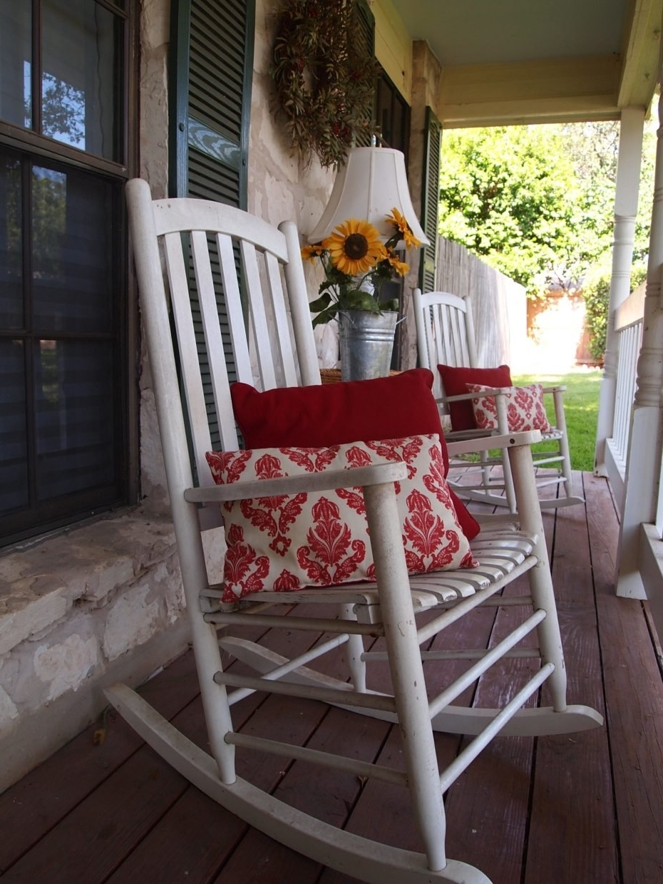 Fashionable Rocking Chairs For Front Porch Regarding Wooden Rocking Chair Front Porch Home Remodeling Front Porch Rocking (View 13 of 20)