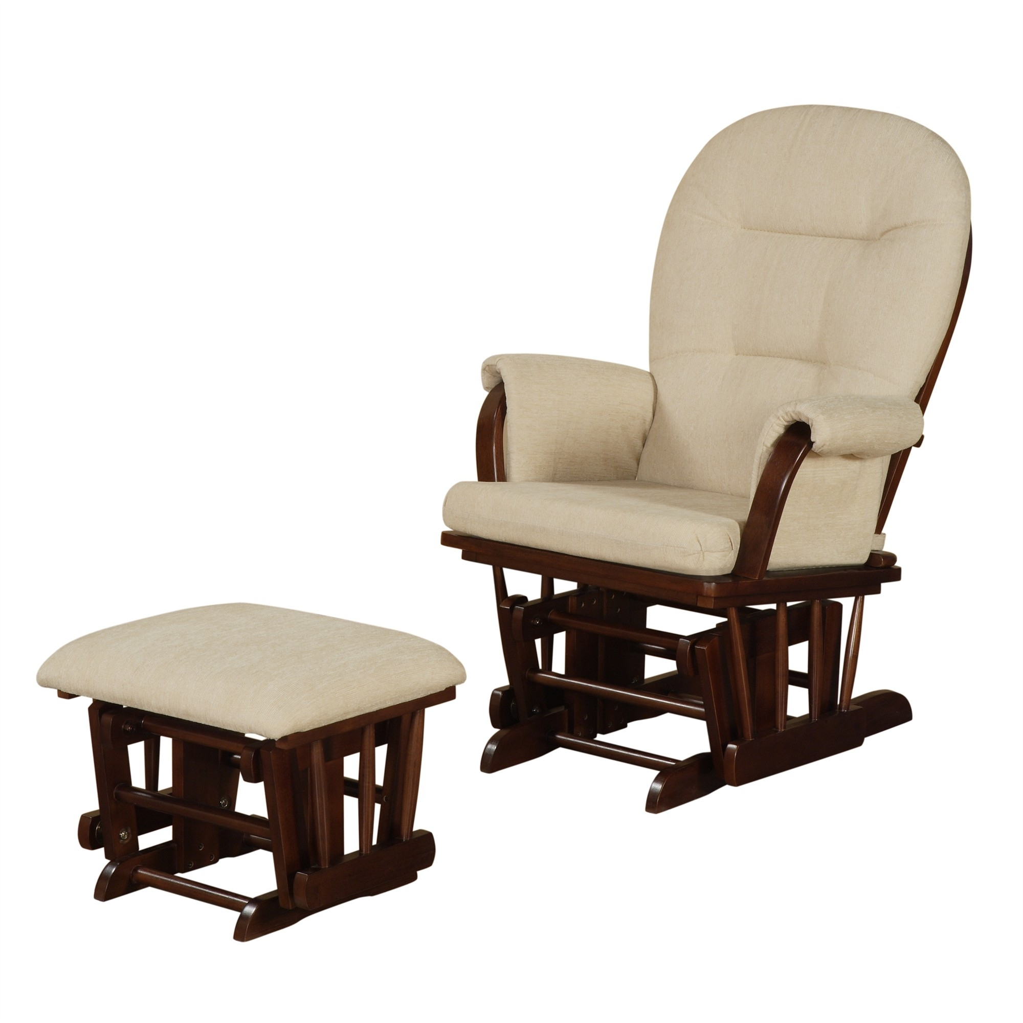 Fashionable Rocking Chairs With Ottoman With Used Glider Rocker With Ottoman For Sale Rocking Chair Cushions Grey (View 3 of 20)