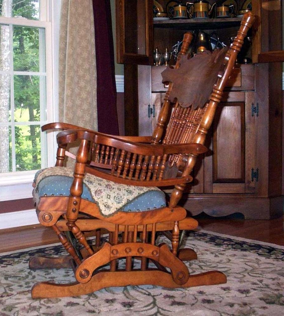 Fashionable Rocking Chairs With Springs Inside Furniture Detective: Glider Rocker With 1888 Patent Is Valued At (View 5 of 20)