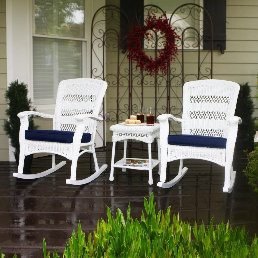 Fashionable Shop Tortuga Outdoor Portside 3 Piece Wicker Frame Patio With Patio Conversation Sets With Rockers (View 5 of 20)