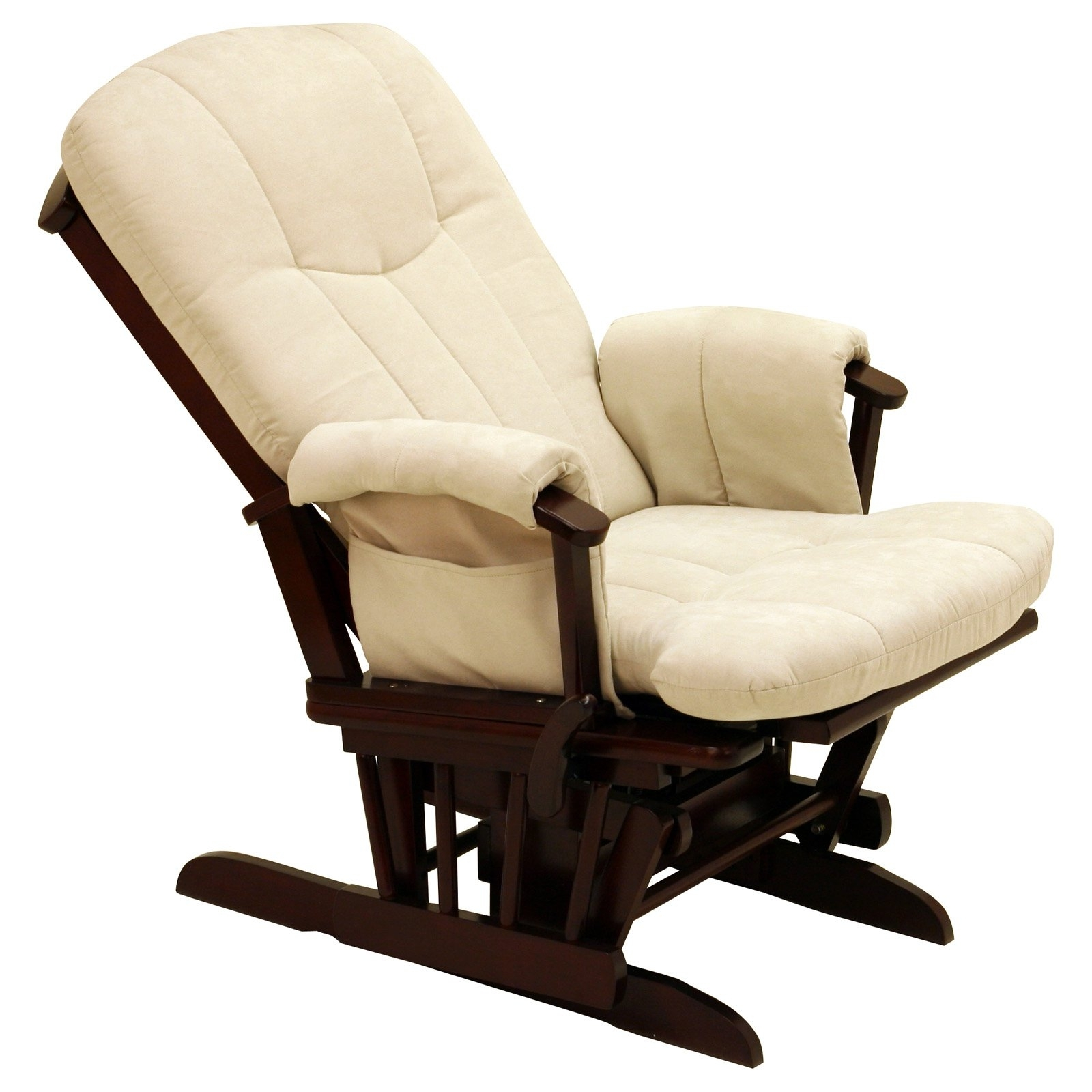 Fashionable Storkcraft Deluxe Reclining Glider Rocker – Cherry Beige – Walmart Intended For Rocking Chairs At Walmart (View 15 of 20)