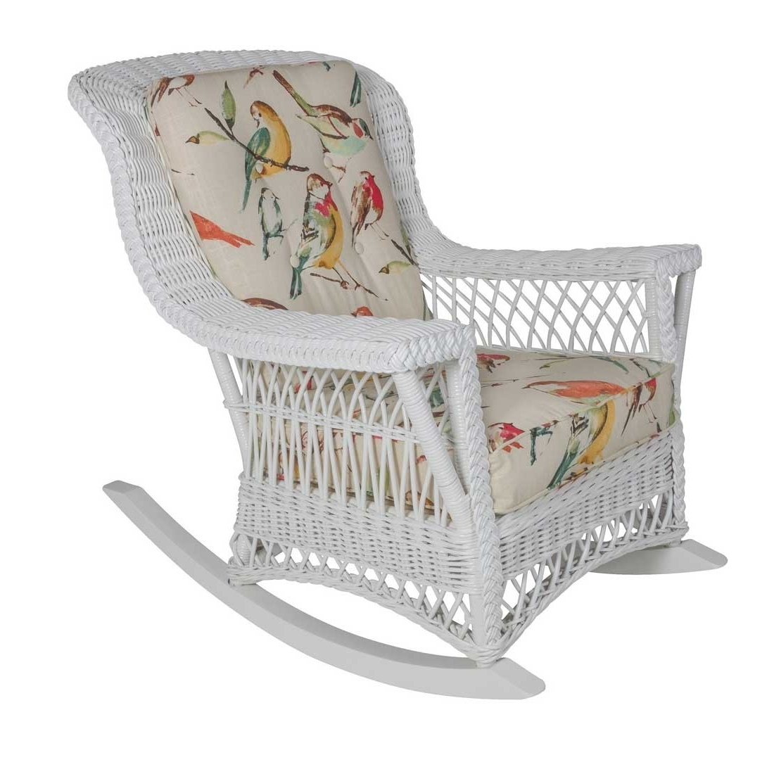 Fashionable White Wicker Rocking Chairs Within Rockport Natural Wicker Rocker High Back (View 6 of 20)