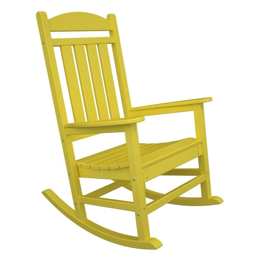Fashionable Yellow Outdoor Rocking Chairs For Polywood Presidential Lemon Patio Rocker R100Le – The Home Depot (View 5 of 20)