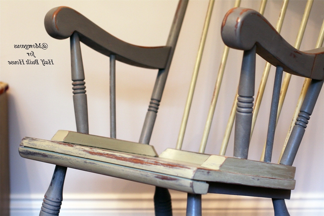 Favorite Hbh Eastbourne: A Spot Of Child Friendly Designing & Upcycling With Pertaining To Upcycled Rocking Chairs (View 6 of 20)