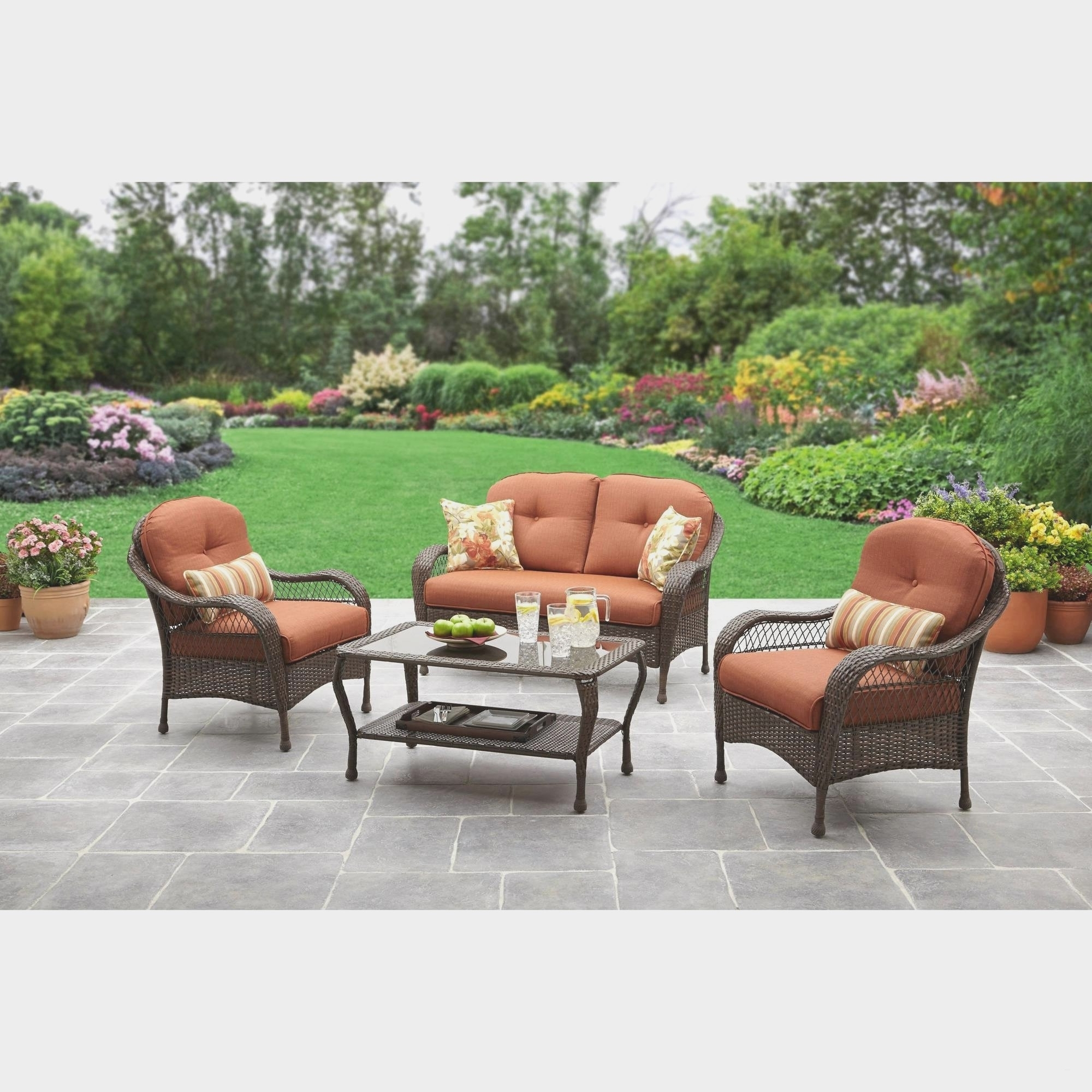 Favorite Patio Conversation Sets At Lowes Regarding Wrought Iron Outdoor Furniture Lowes (View 7 of 20)