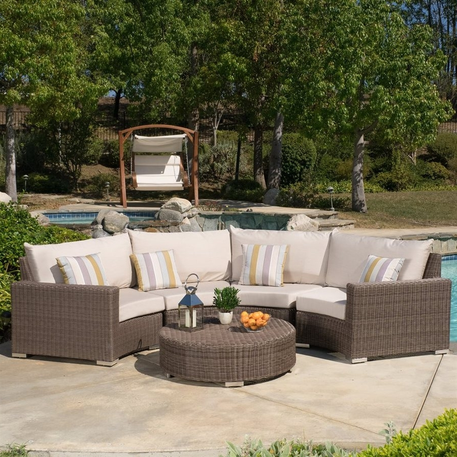 Favorite Patio Conversation Sets With Sunbrella Cushions Pertaining To Shop Best Selling Home Decor Milano 5 Piece Wicker Frame Patio (View 7 of 20)