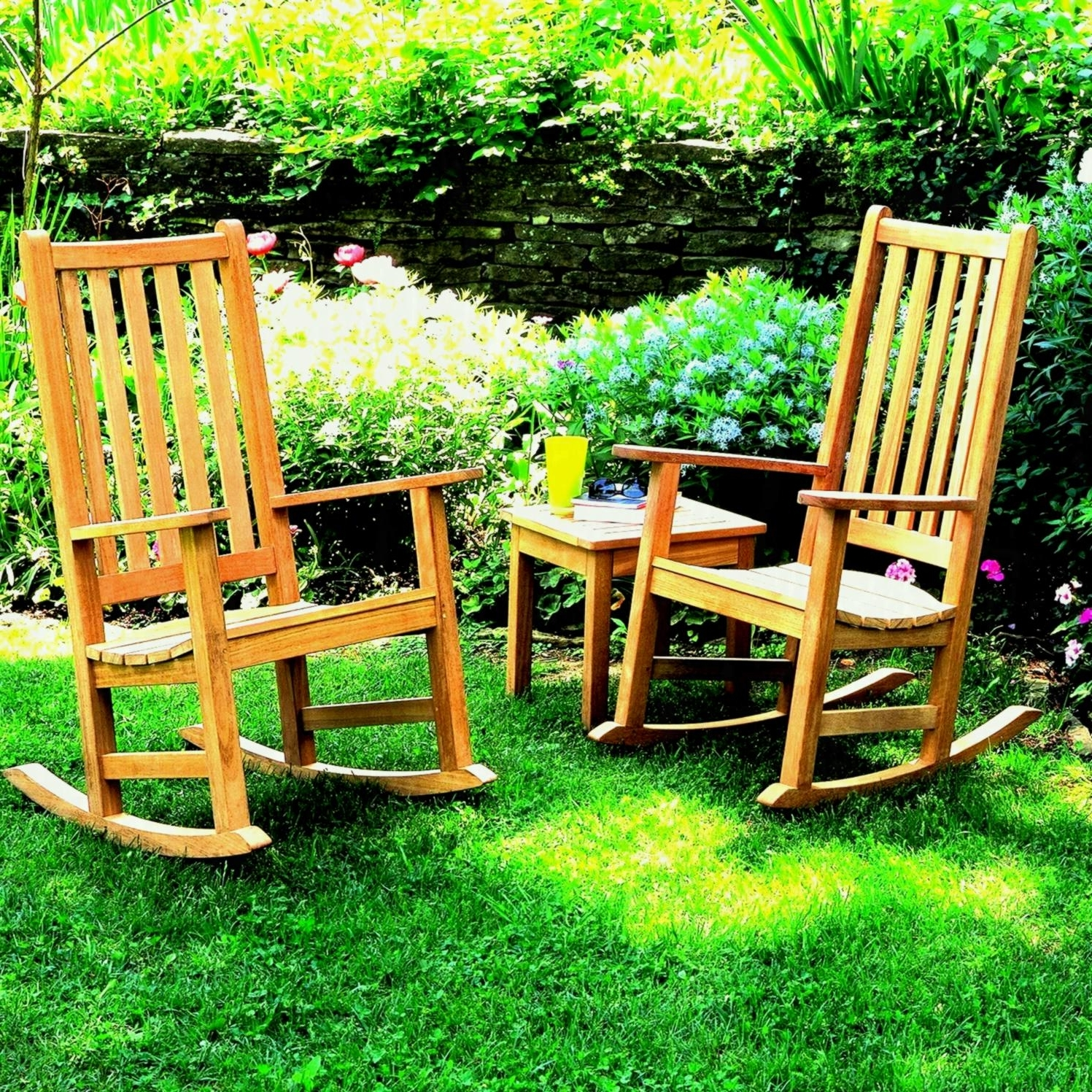 Favorite Patio Rocking Chairs Outdoor Furniture Garden Lawn Back To Your Old Inside Rocking Chairs For Garden (View 4 of 20)
