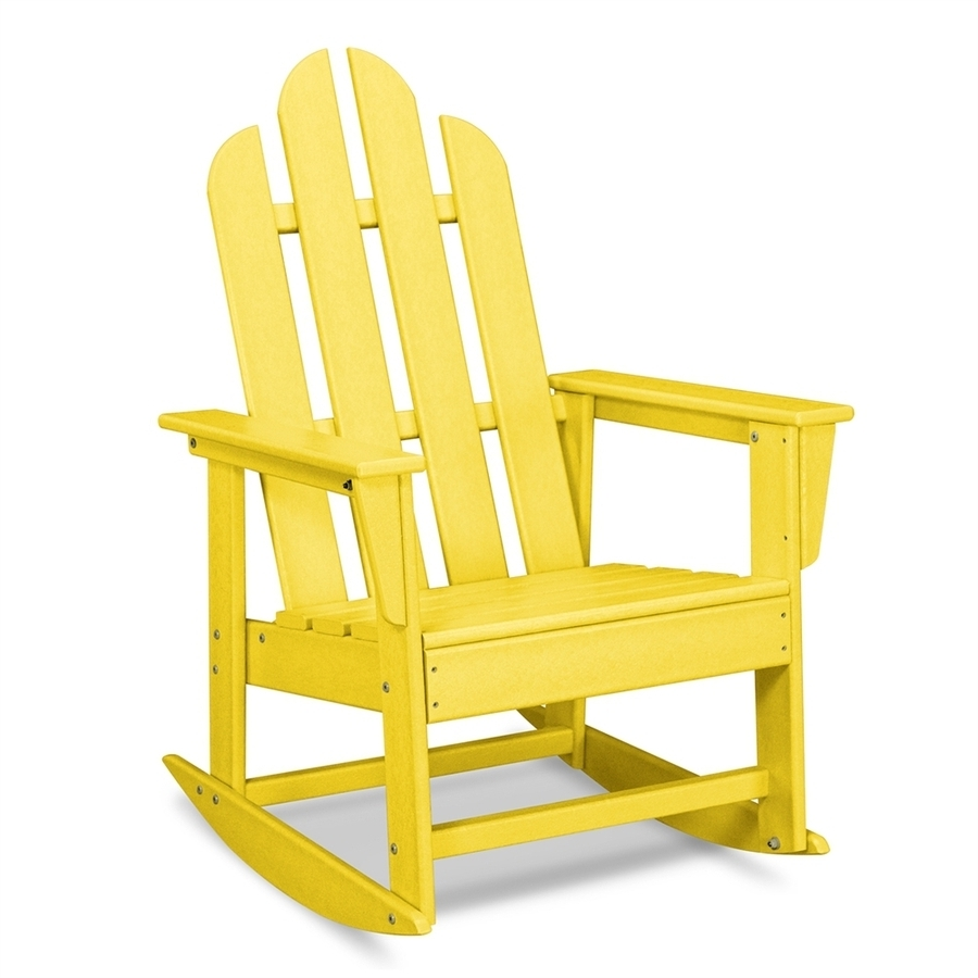 Favorite Shop Polywood Long Island Lemon Plastic Patio Rocking Chair At Lowes Inside Plastic Patio Rocking Chairs (View 4 of 20)