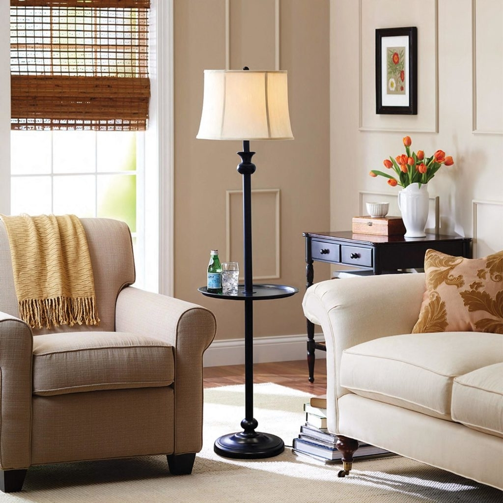 Floor Lamps With Shelves Style — Eflyg Beds : Modern Floor Lamps In Preferred Houzz Living Room Table Lamps (View 3 of 20)