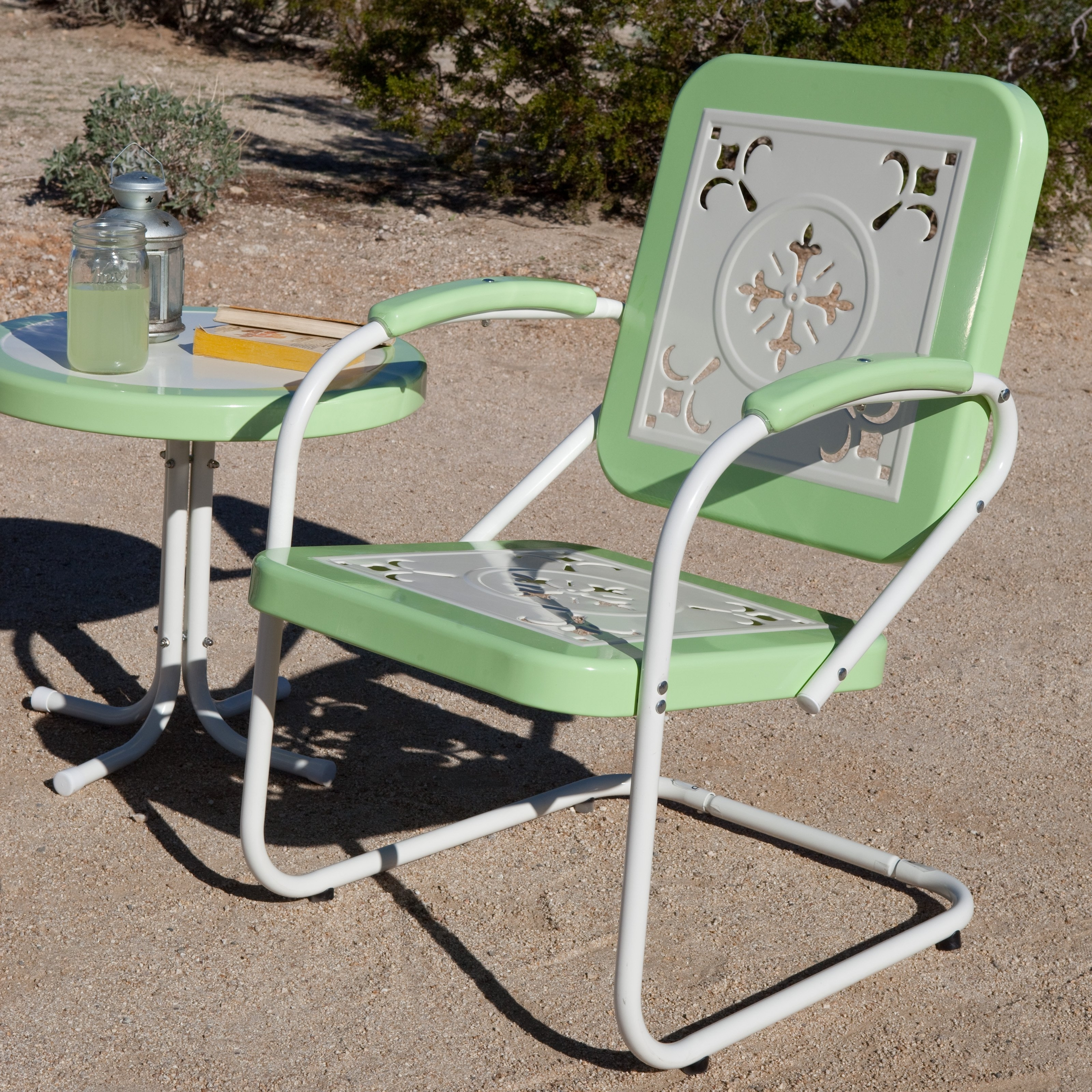 Focus Vintage Outdoor Furniture Retro Metal Patio Chairs Lawn With Regard To Well Known Wrought Iron Patio Rocking Chairs (View 7 of 20)