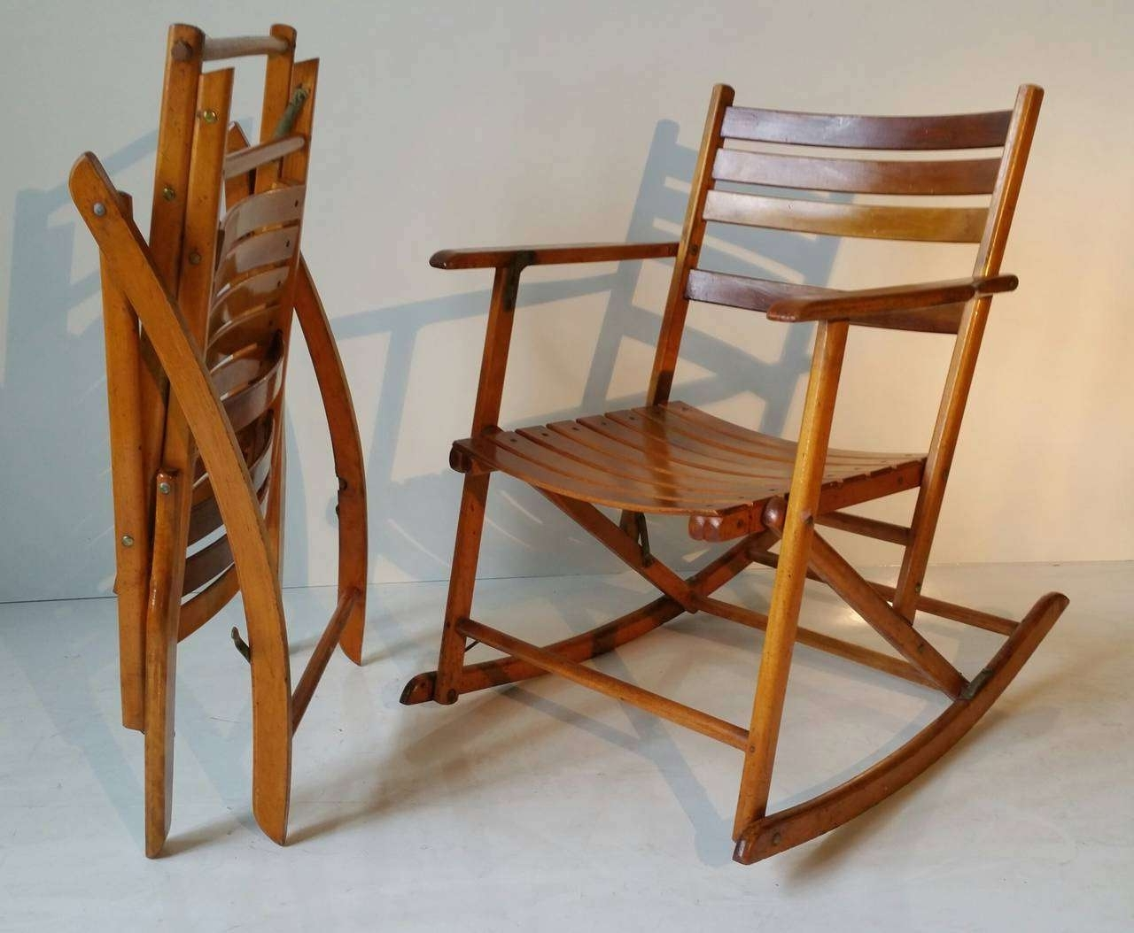 Fold Up Rocking Chair Best Of The Telescope Folding Furniture Pany Inside Well Known Folding Rocking Chairs (View 3 of 20)