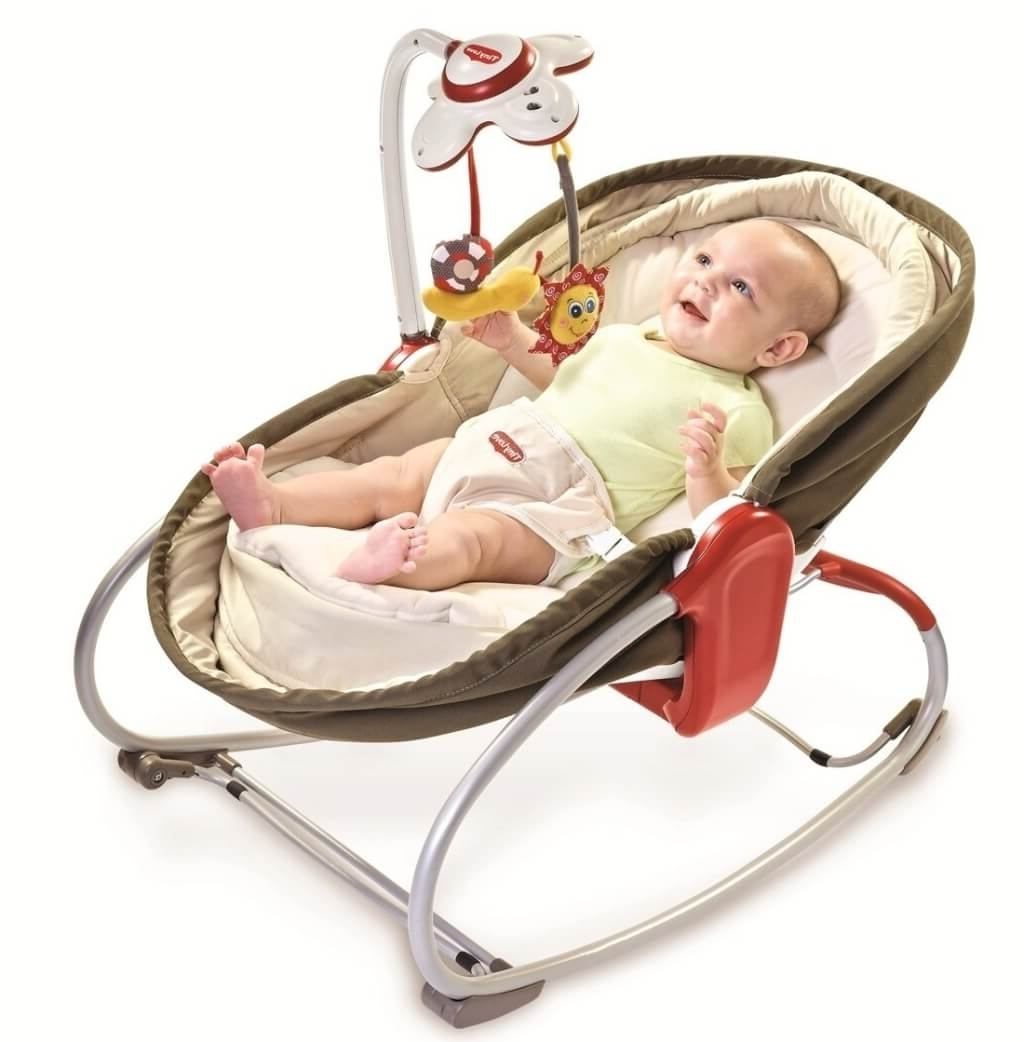 Furniture: Cute Brown Baby Rocking Chair Design With Bouncer – Cool For Most Recently Released Rocking Chairs For Babies (View 12 of 20)